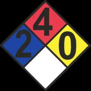 Propane HASMAT hazard data label. Propane warning sign