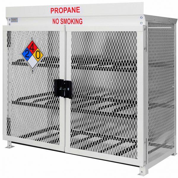 Steel 12 Forklift Propane Cylinder Cage. Forklift Propane Cage For 12  Forklift Propane Cylinders In