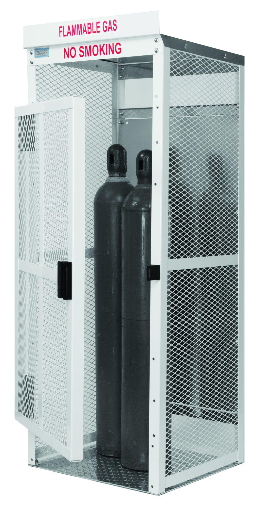 High Pressure Oxygen, welding gas eight tank steel gas cage.