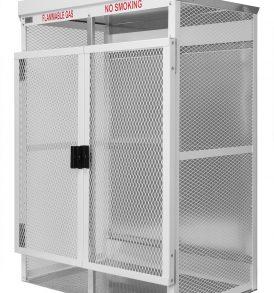 100lb LP Cylinder Steel Gas Cage, 23 High Pressure cylinder storage cabinet.