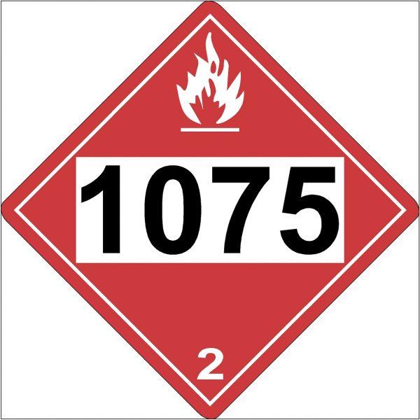Propane DOT Warning Label