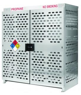 Aluminum 16 Forklift Propane Cylinder Storage Cage / Cabinet