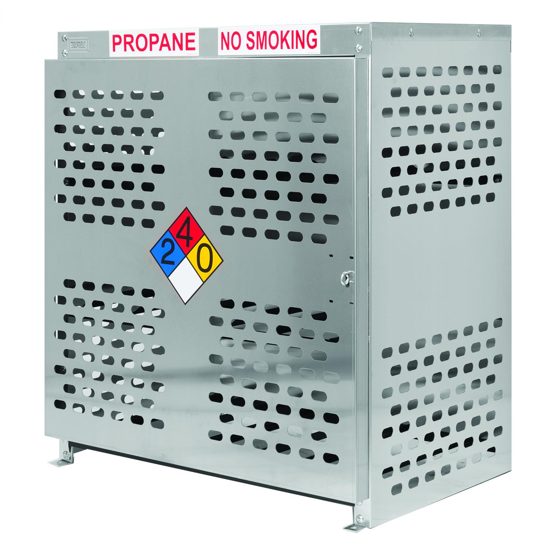 Nine forklift tank aluminum gas cage. 9 Forklift Cylinder Propane Cage ASM
