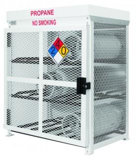 9 cylinder forklift tank cage. Nine forklift cylinder steel cage.