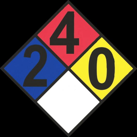 Propane HAZMAT Placard. Hazardous Material Propane Placard