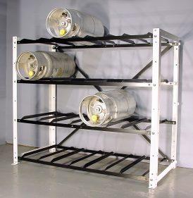 16 Cylinder Large Forklift Cylinder Open Rack Propane Cage