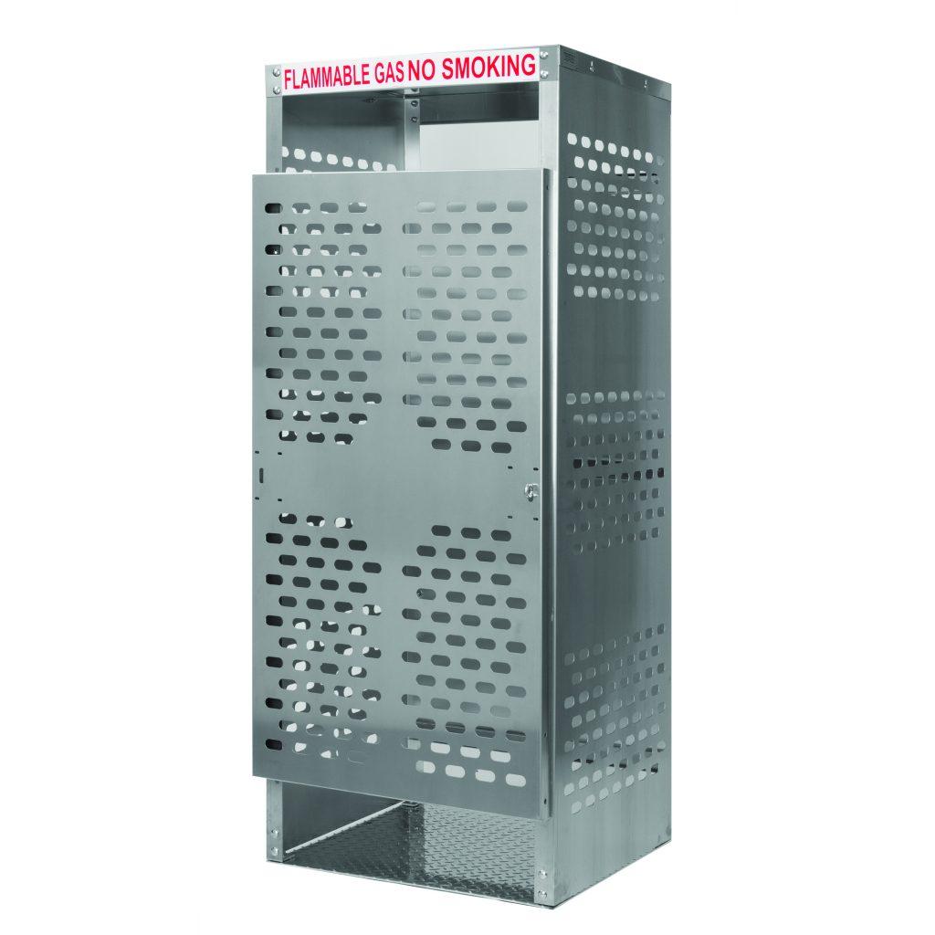 Oxygen – Welding Gas – LP Cylinder Storage Cage / Cabinet – 8