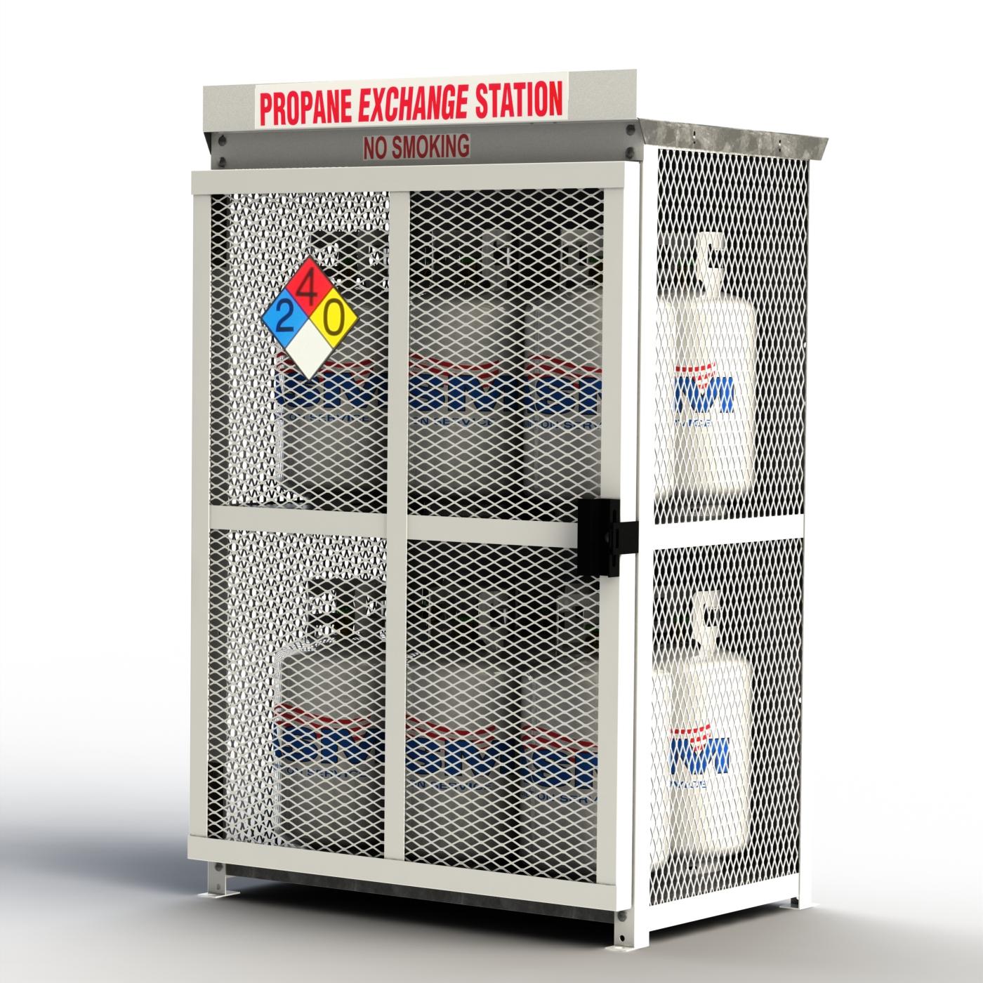 30lb Propane Cylinder Storage Cage In Steel Twelve 30lb